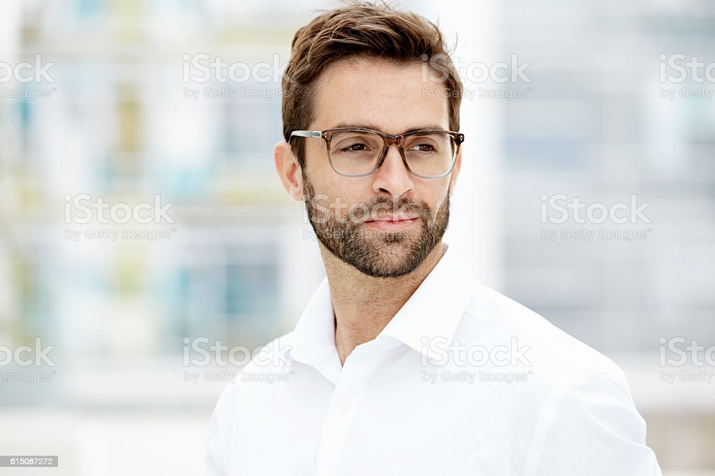 Confident man stock photo