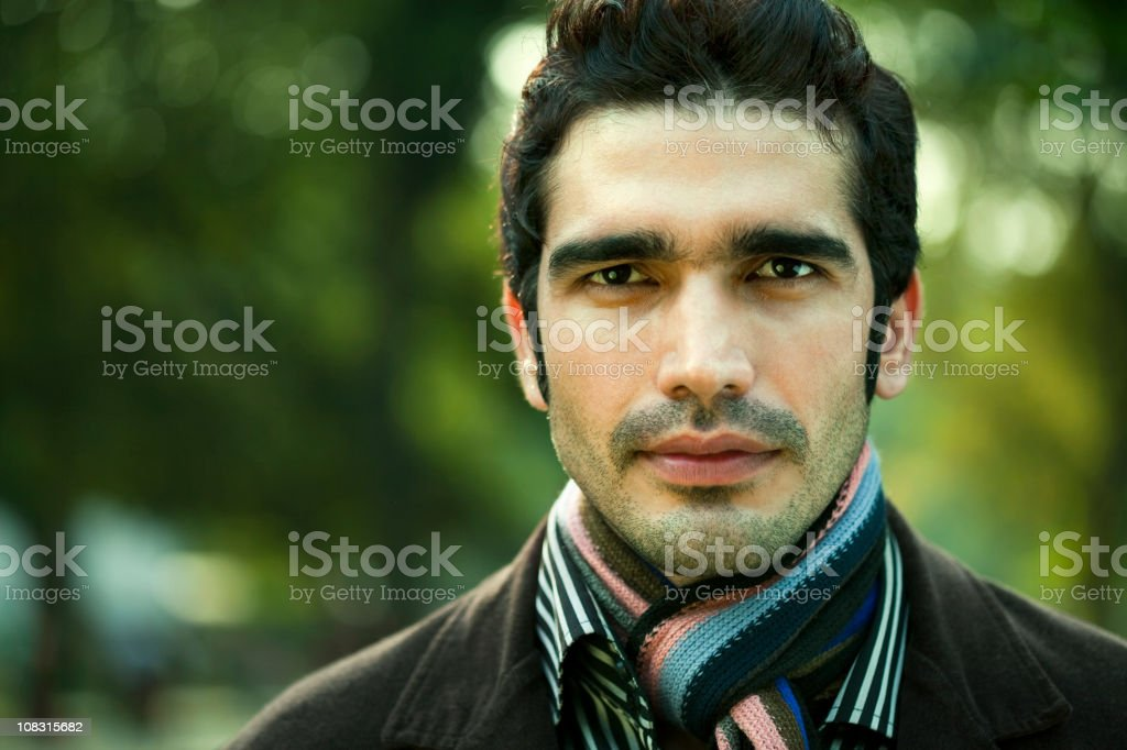 Confident man with strong, angular masculine face royalty-free stock photo