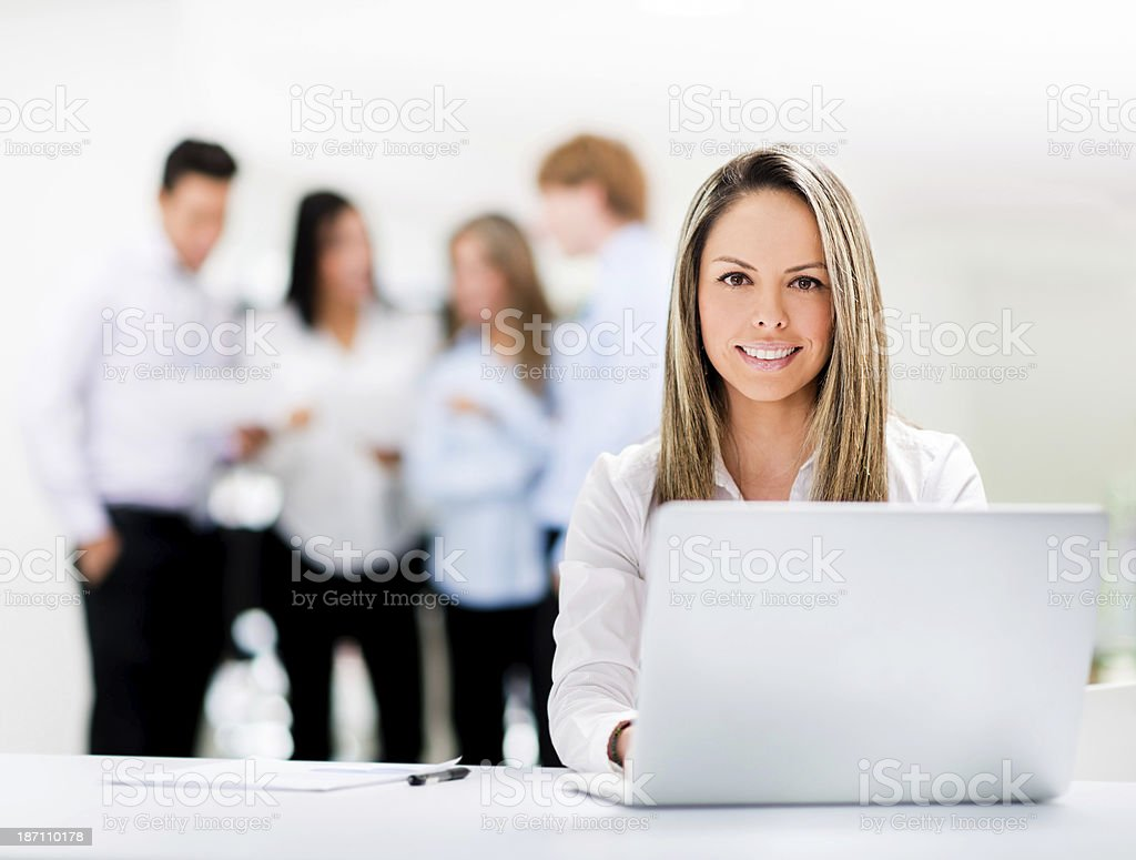 Confident manager smiling royalty-free stock photo