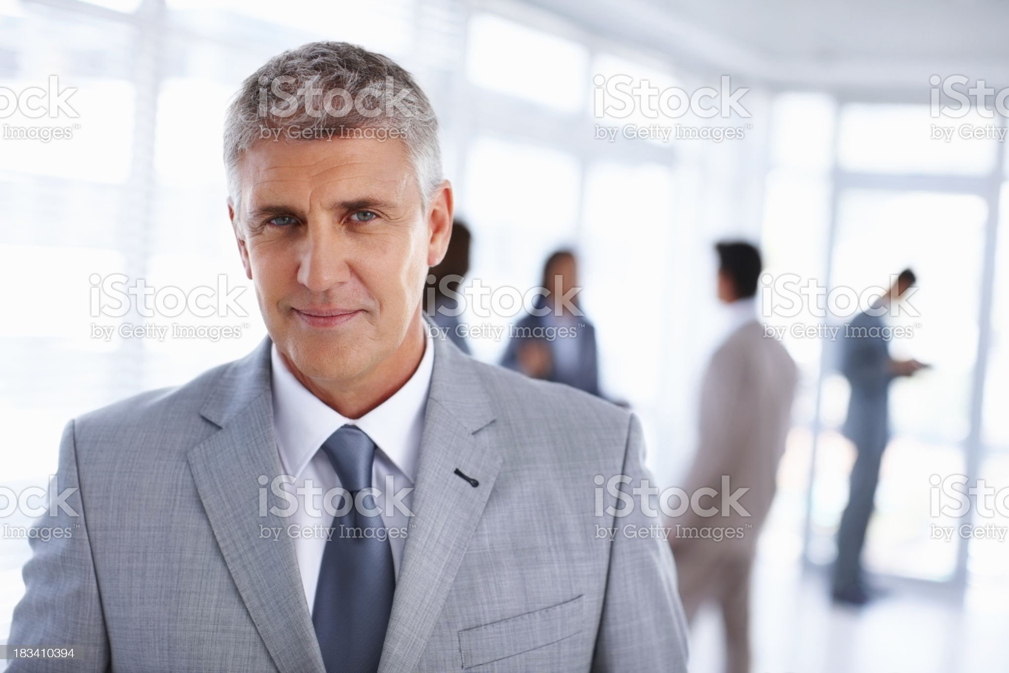 Confident mature business man at office royalty-free stock photo