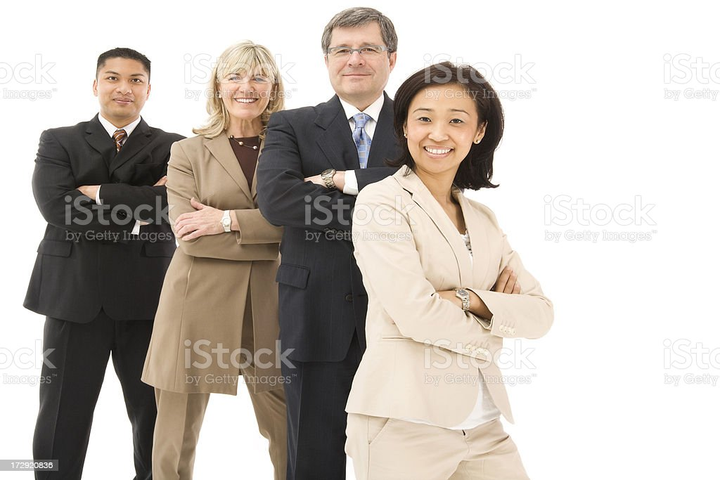 Confident Mature Business team royalty-free stock photo