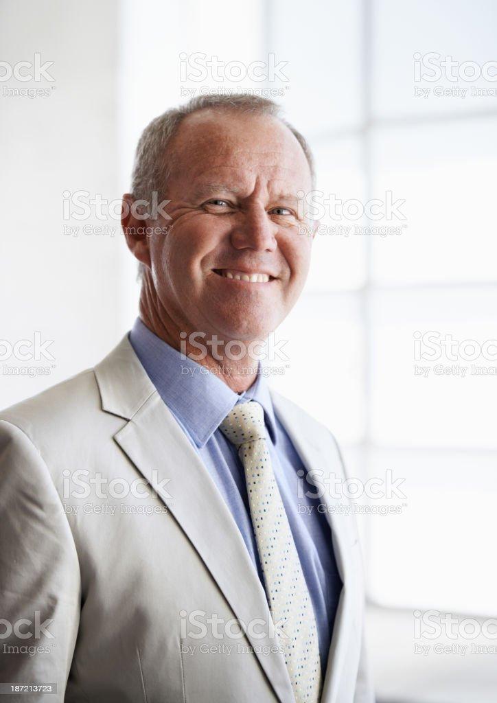 Confident mature businessman royalty-free stock photo