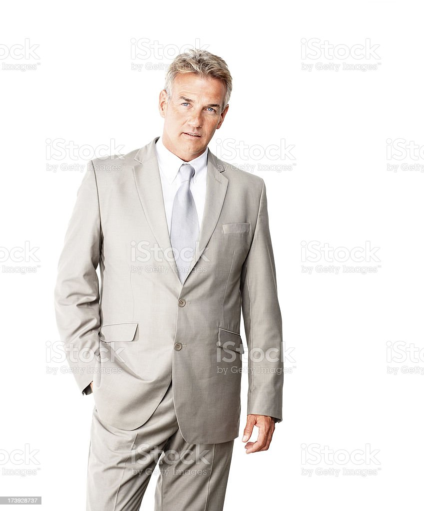 Confident mature businessman with his hand in pocket royalty-free stock photo
