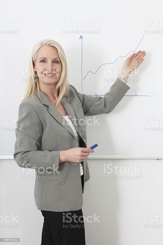 Confident mature businesswoman royalty-free stock photo