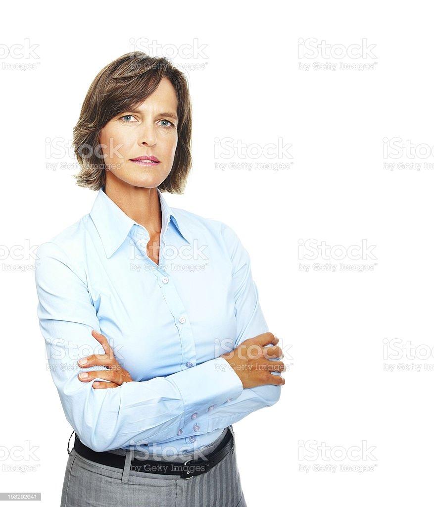 Confident mature businesswoman royalty-free stock photo