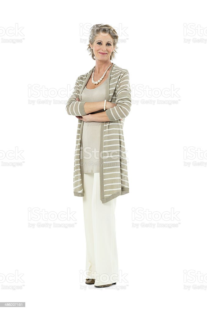 Confident Mature Woman stock photo