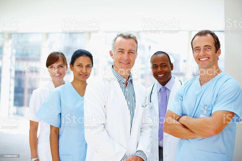 Confident medical staff royalty-free stock photo