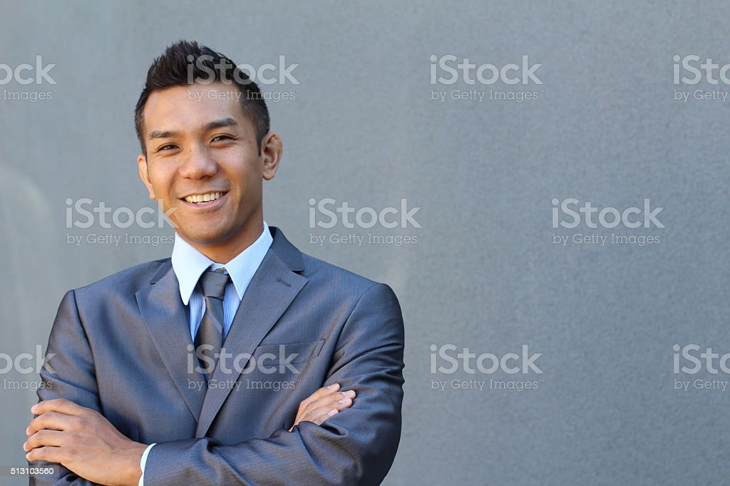 Confident modern business man stock photo