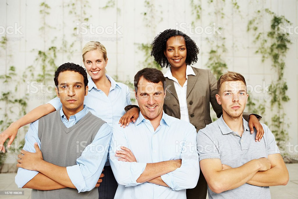 Confident multi ethnic business colleagues royalty-free stock photo