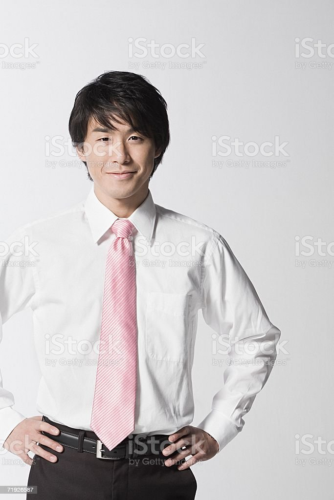 Confident office worker royalty-free stock photo