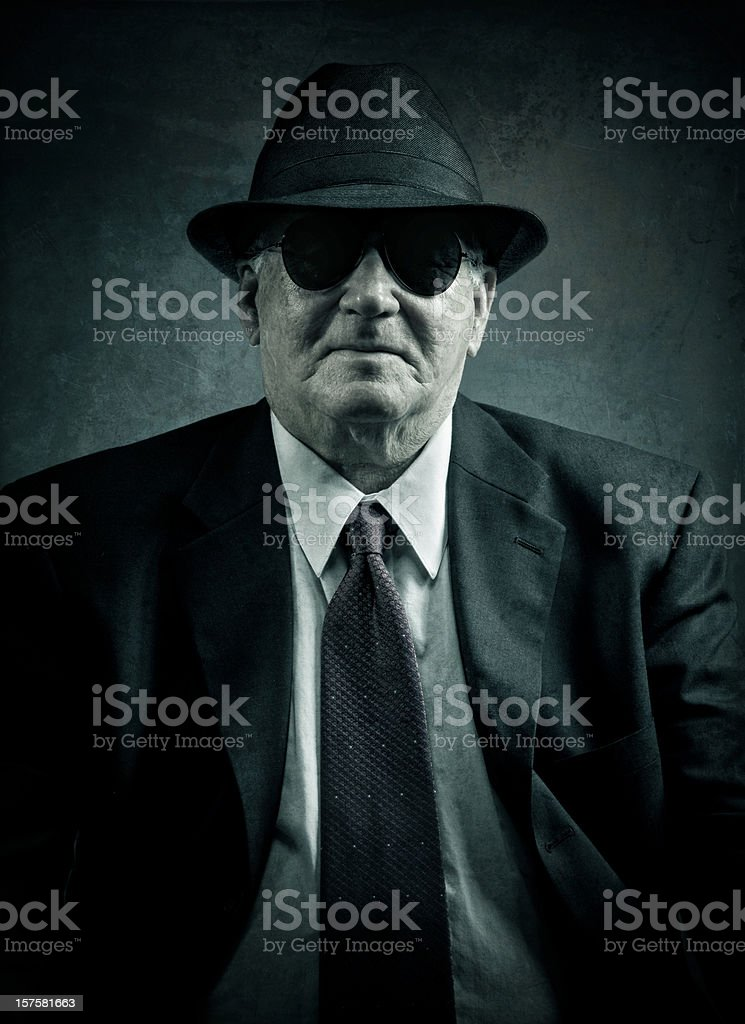 confident omerta boss royalty-free stock photo
