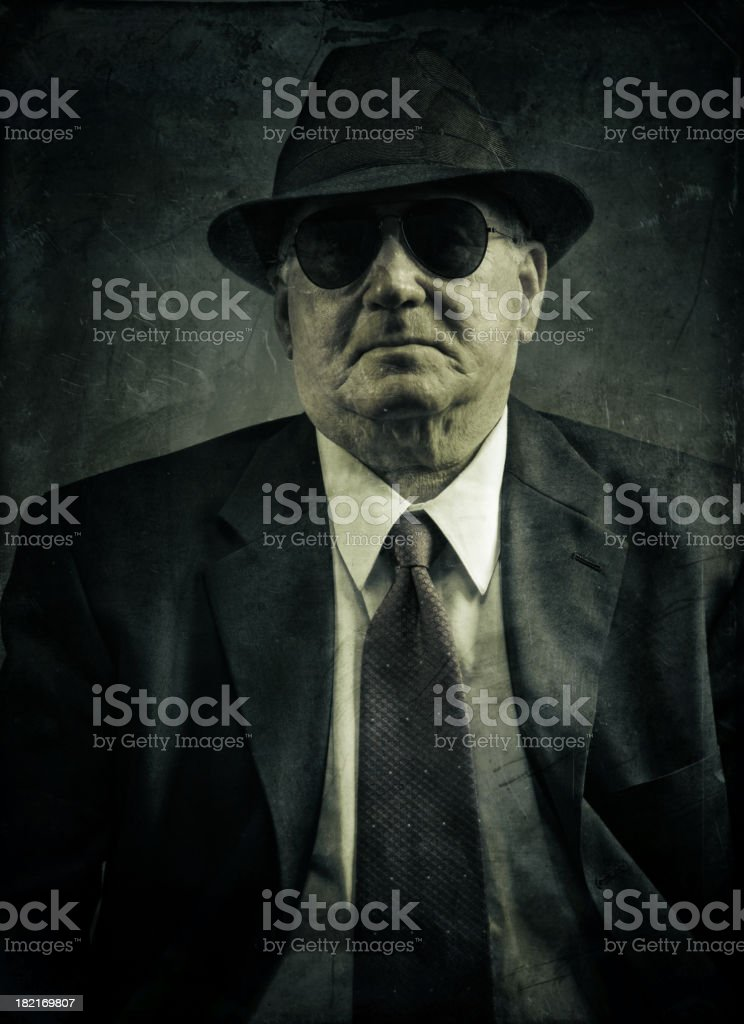 confident omerta boss stock photo