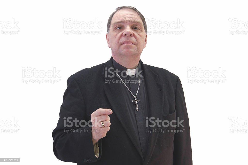 Confident Priest royalty-free stock photo