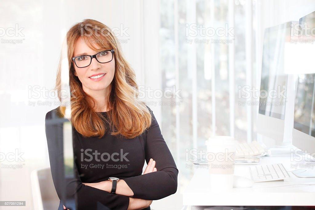 Confident professional woman stock photo