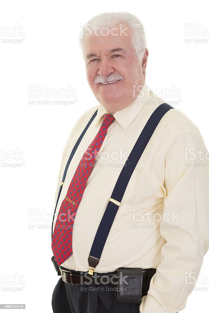 Confident relaxed senior man royalty-free stock photo