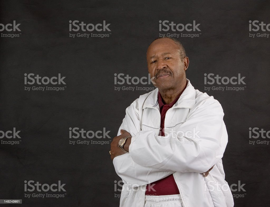 confident retired man royalty-free stock photo