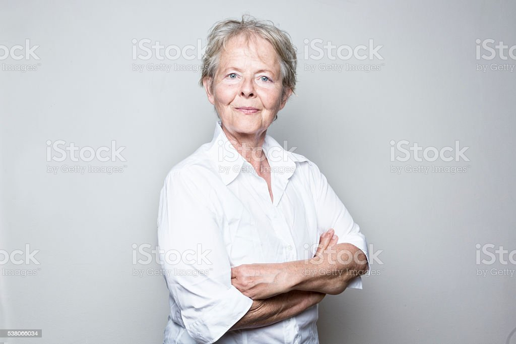 confident senior business womman stock photo