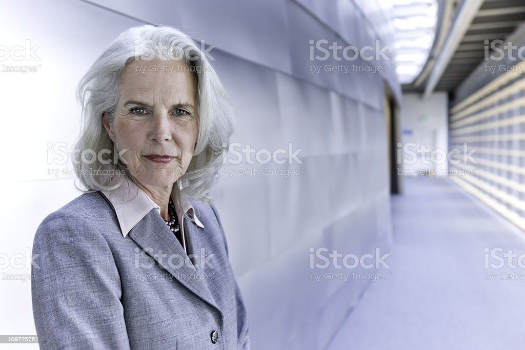 Confident Senior Businesswoman royalty-free stock photo