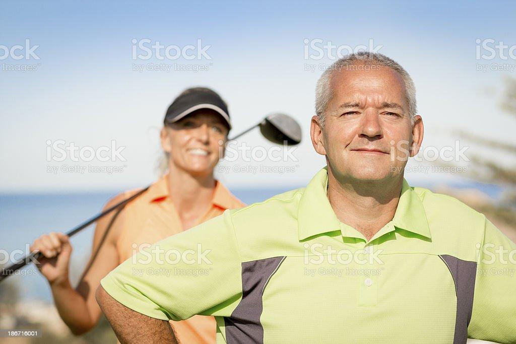 Confident Senior Golfer royalty-free stock photo