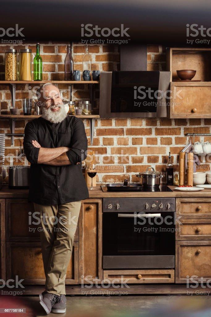 Confident senior man stock photo