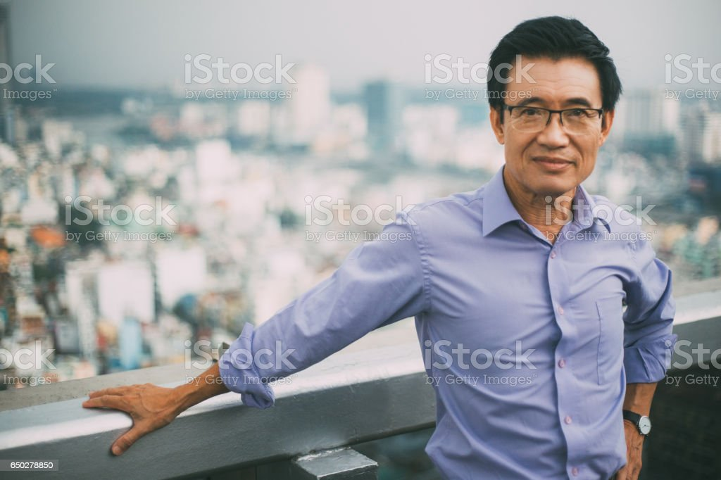 Confident Senior Man Portrait stock photo