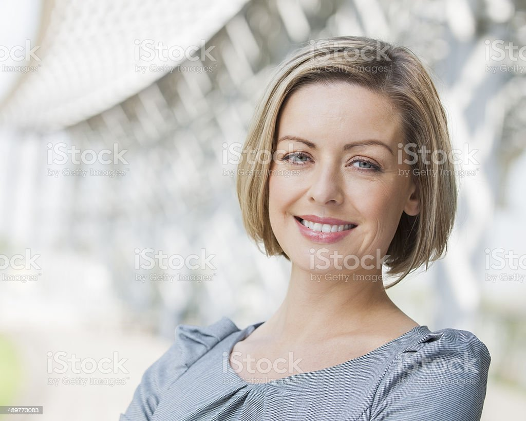 Confident Smiling Businesswoman stock photo