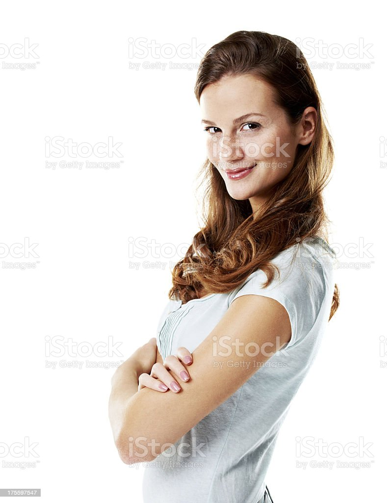 Confident smirk royalty-free stock photo