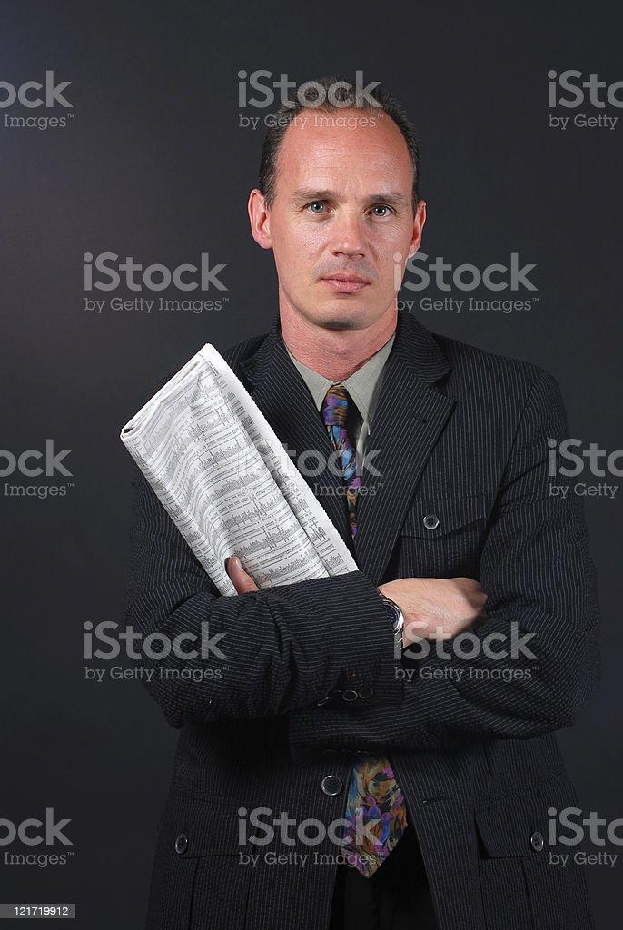 Confident Stockholder stock photo