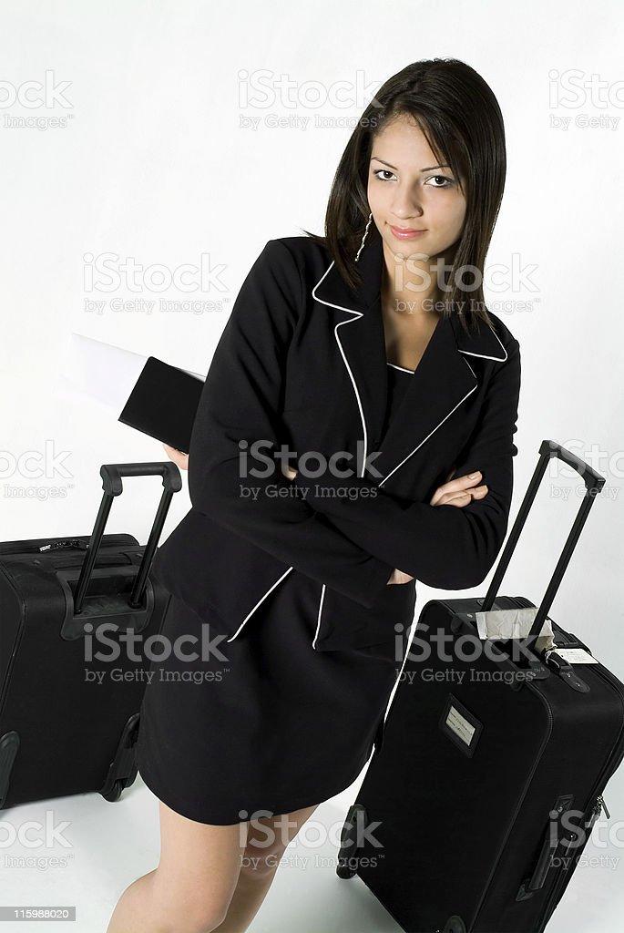 Confident traveler stock photo