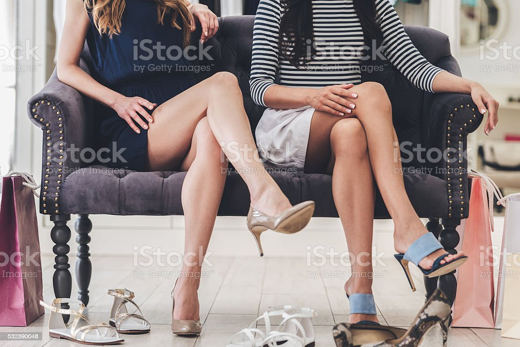 Confident with their choice. stock photo
