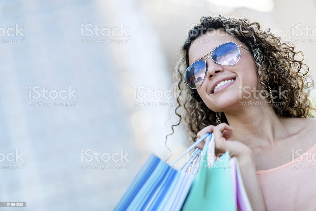 Confident woman after shopping royalty-free stock photo