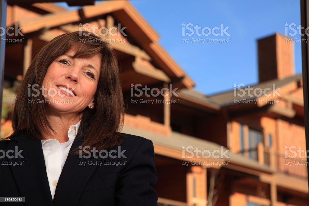 Confident Woman In Door Way royalty-free stock photo