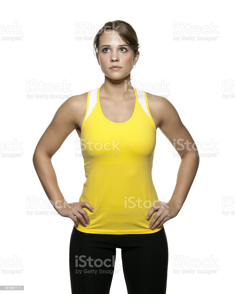 Confident Woman in Workout Clothing royalty-free stock photo