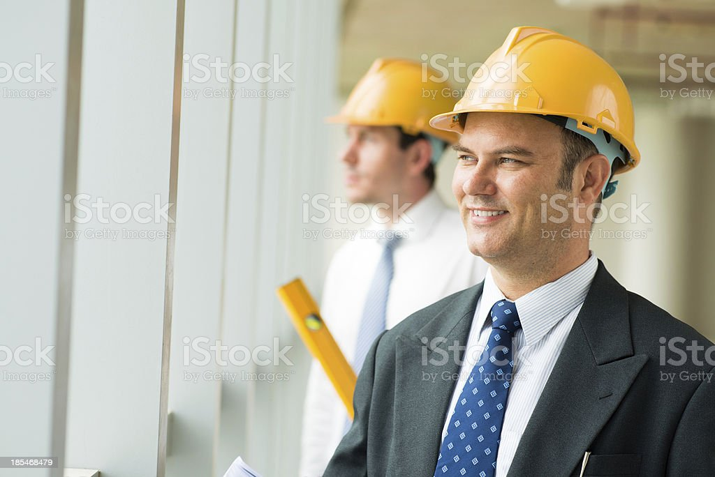 Confident worker royalty-free stock photo