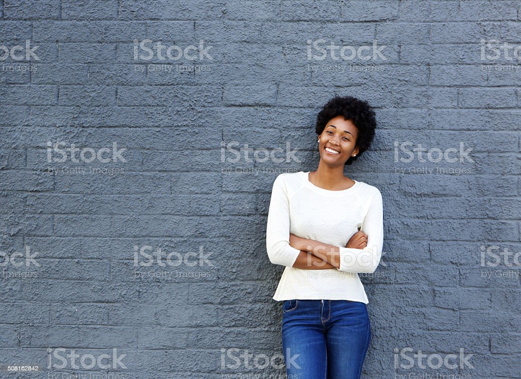 Confident young african woman stock photo