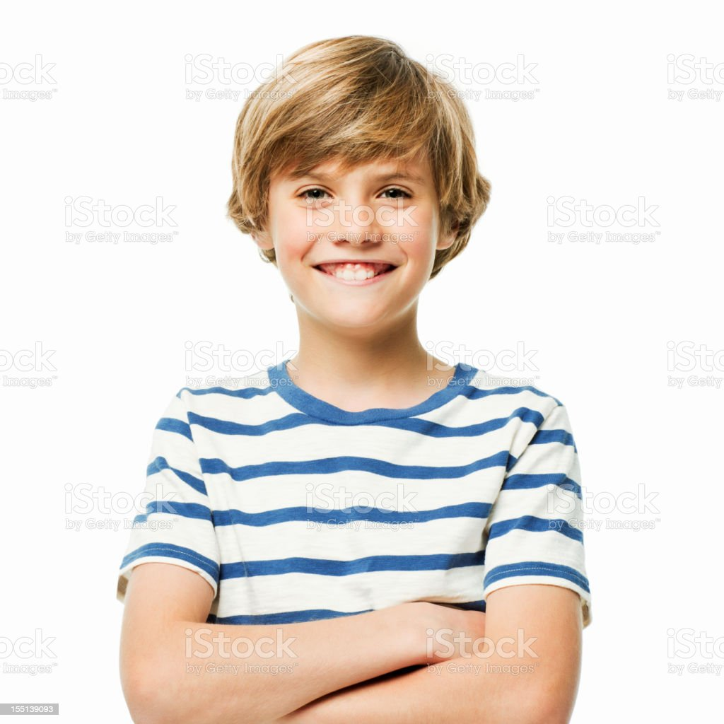 Confident Young Boy - Isolated stock photo