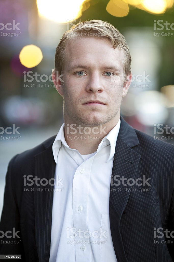 Confident young business man. royalty-free stock photo