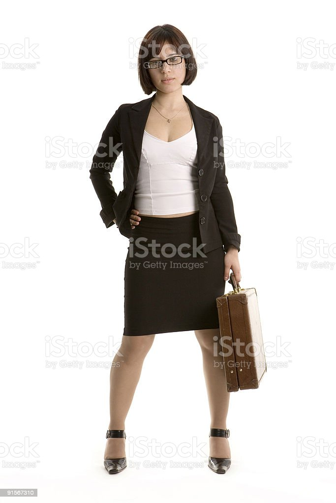 Confident young business woman royalty-free stock photo