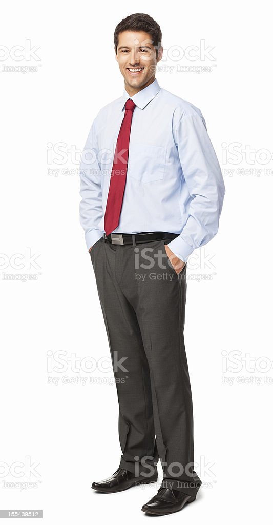 Confident Young Businessman - Isolated royalty-free stock photo