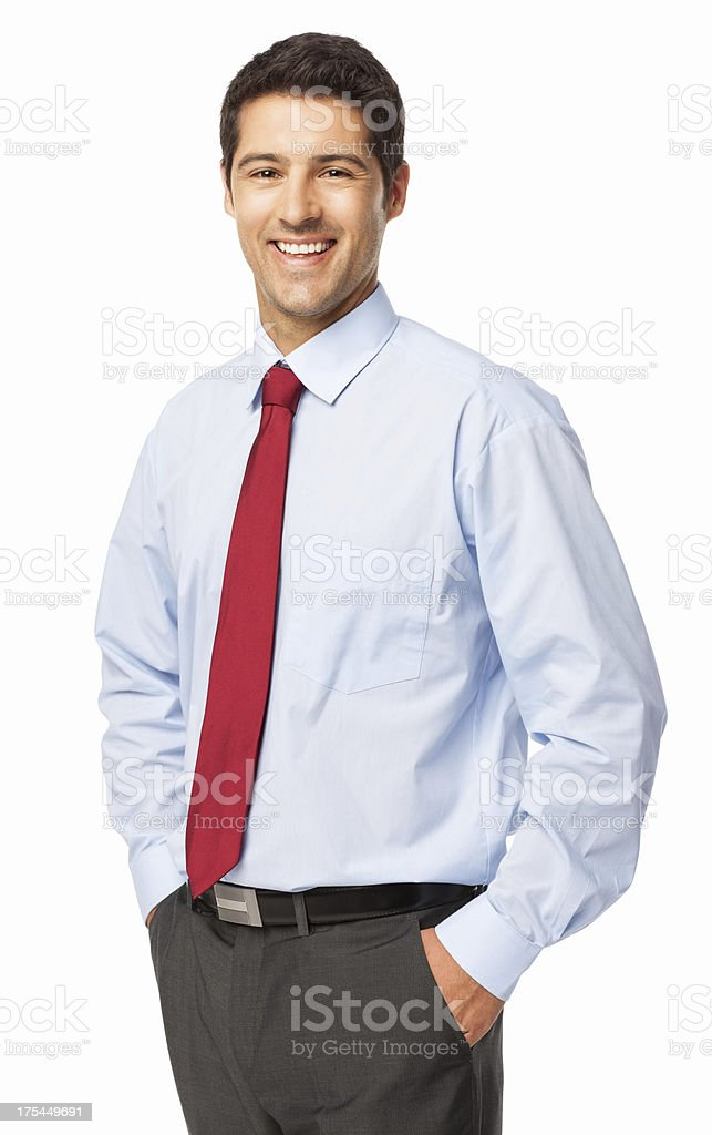 Confident Young Businessman - Isolated stock photo