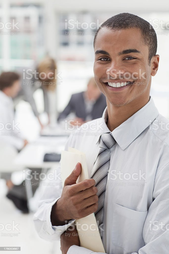 Confident Young Businessman. royalty-free stock photo