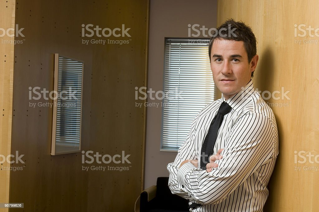 Confident Young Businessman royalty-free stock photo