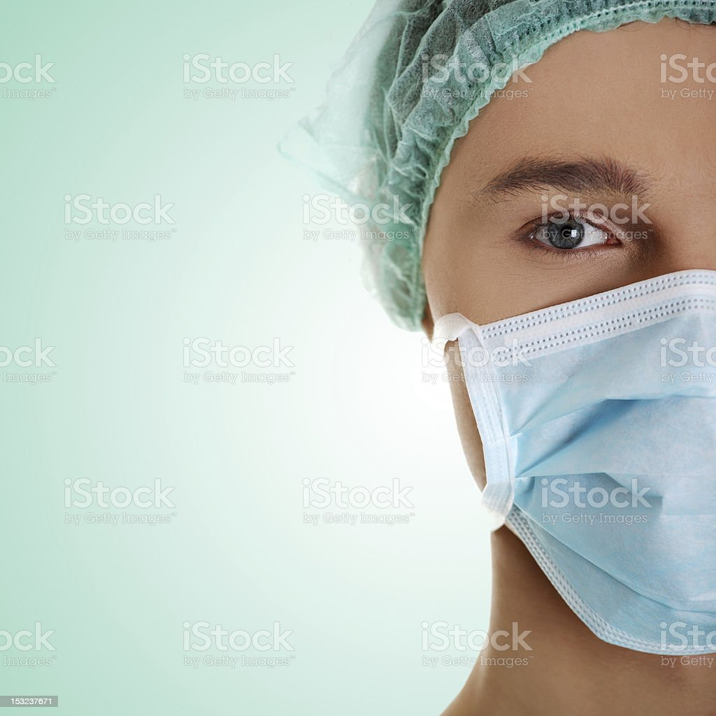 Confident young doctor stock photo