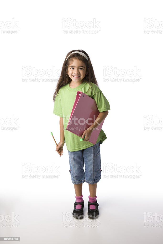 Confident Young HIspanic School Girl royalty-free stock photo