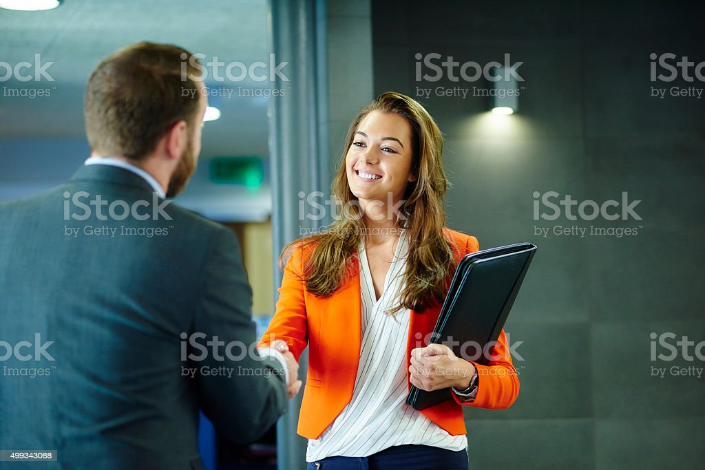 confident young job applicant stock photo