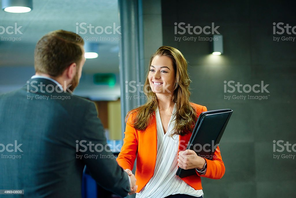 confident young job applicant stock photo