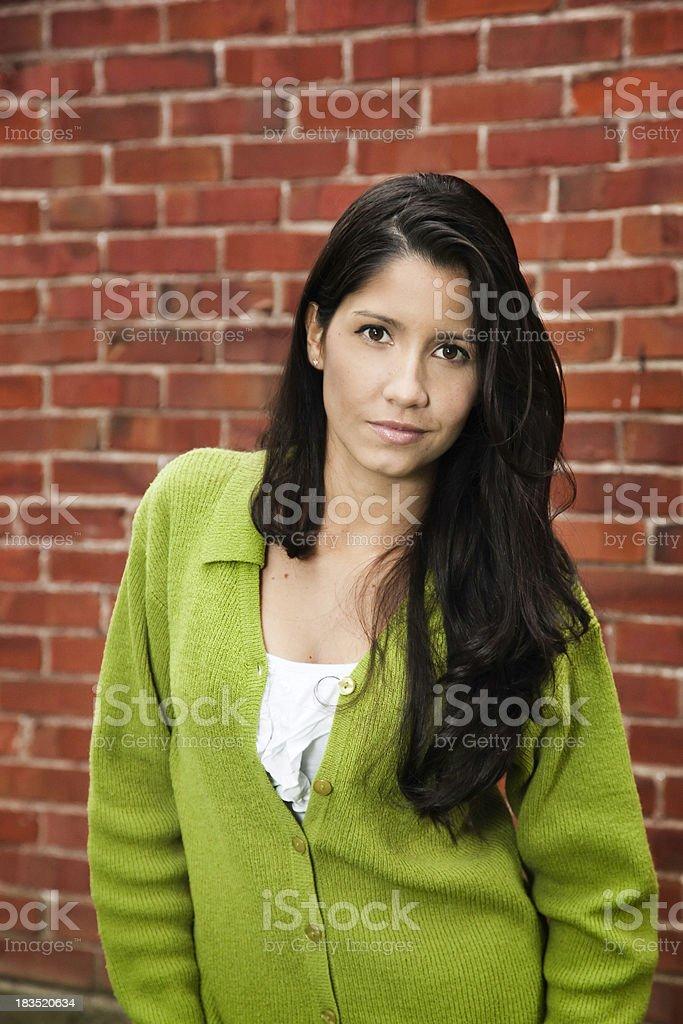 Confident, young Latina woman stock photo
