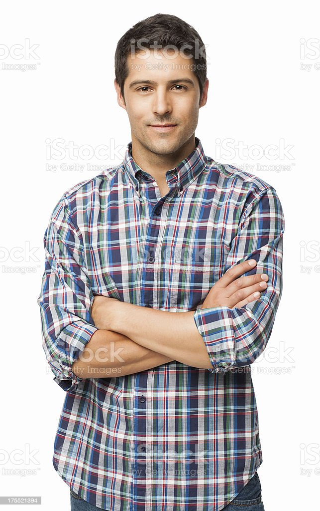 Confident Young Man - Isolated stock photo