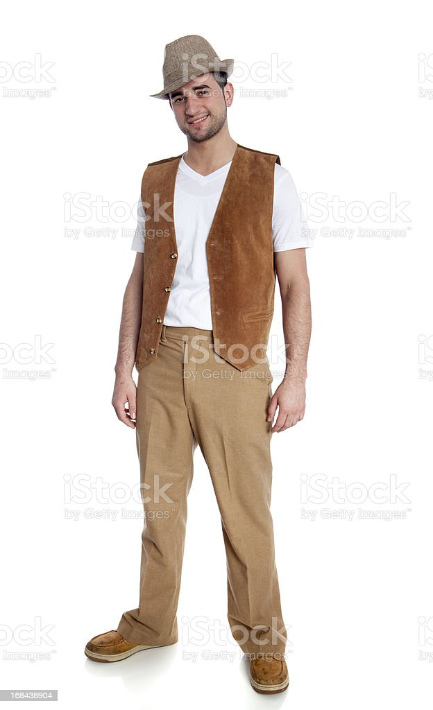 confident young man stock photo