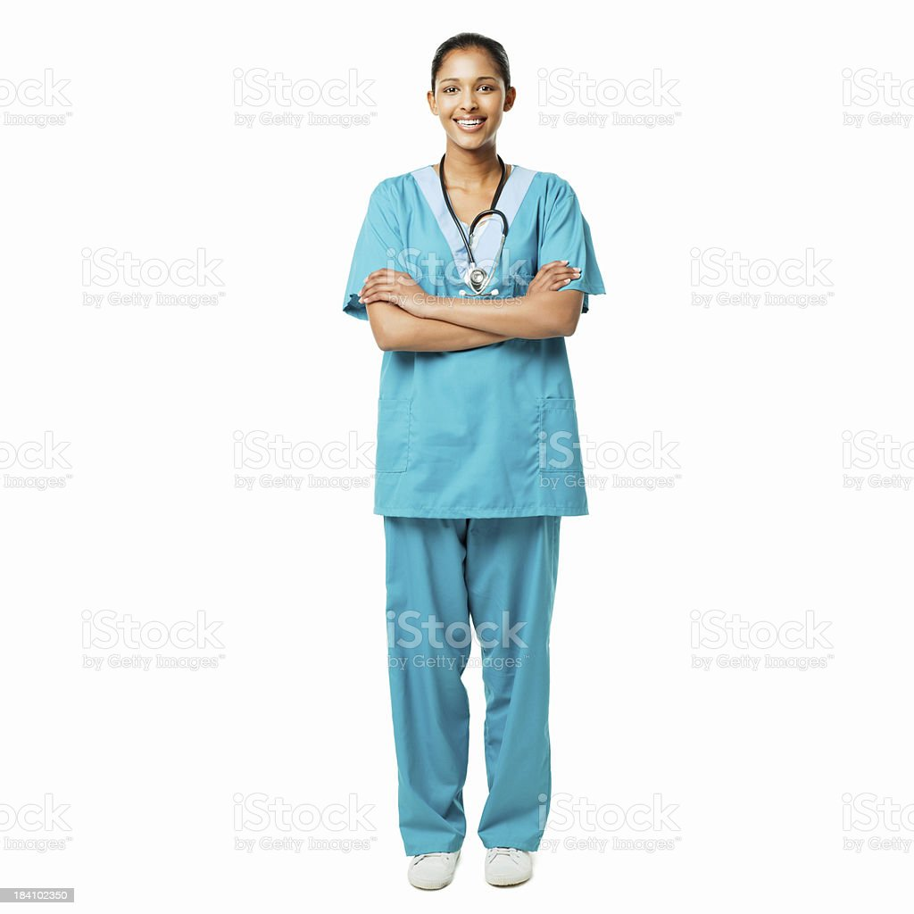 Confident Young Nurse - Isolated royalty-free stock photo